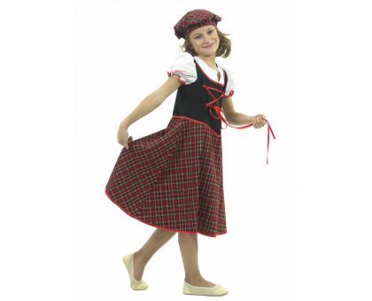 Костюм шотландки: платье и берет
