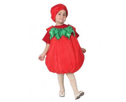 Костюм помидора: комбинезон и шапочка