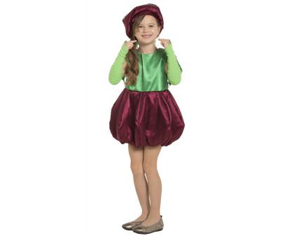 Костюм вишенки: платье, шапочка, митенки