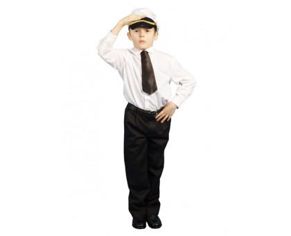 Детский костюм капитана: фуражка и галстук
