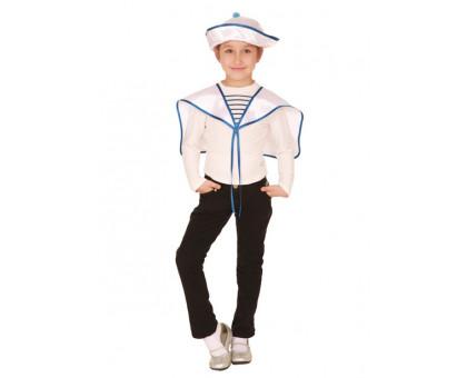Детский костюм моряка: воротник-гюйс и панама