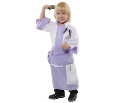 Детский костюм парикмахера: халат и фартук