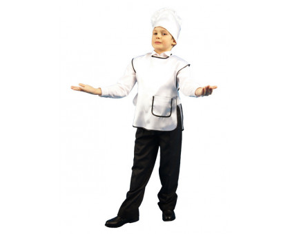 Детский костюм повара: колпак и фартук