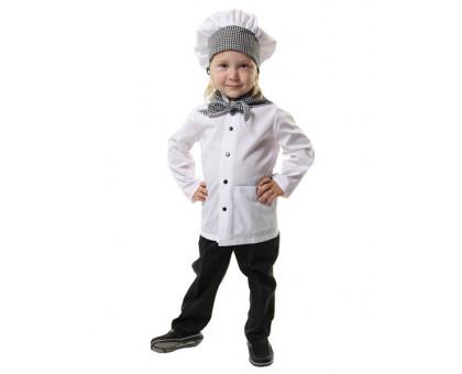 Детский костюм поваренка: халат, колпак и косынка