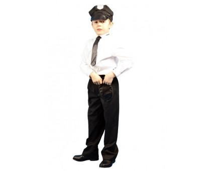 Детский костюм полицейского: фуражка, кобура, галстук
