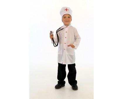 Детский костюм доктора: халат и шапочка