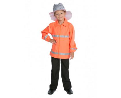 Детский карнавальный костюм пожарного: куртка и шляпа