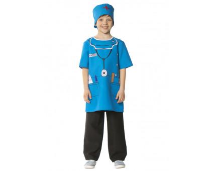 Костюм доктора детский синего цвета