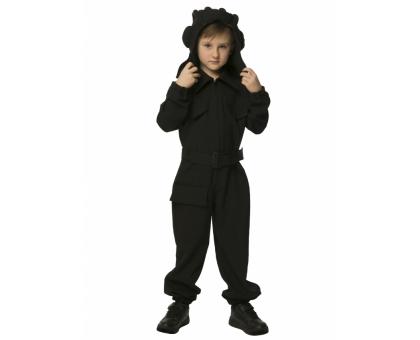 Детский костюм танкиста: шлем, комбинезон, ремень