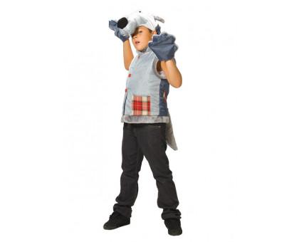 Костюм волка: жилет, перчатки, маска
