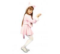 Кошечка розовая