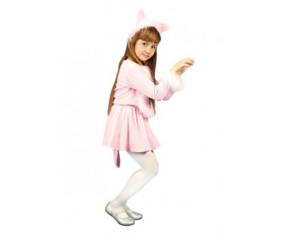 Костюм Кошечки (розовый): юбка, кофточка, ушки
