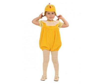 Костюм цыпленка: комбинезон и шапочка