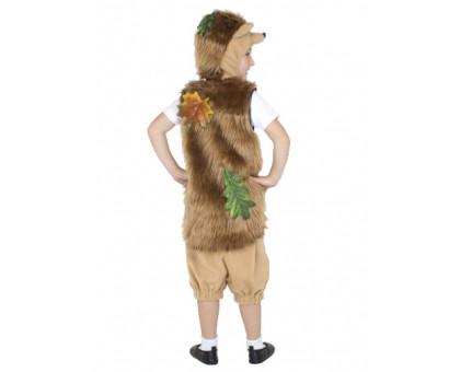 Детский костюм ежика: шорты, жилет и шапочка