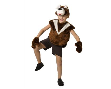 Костюм медведя: жилет, шорты, шапочка, варежки