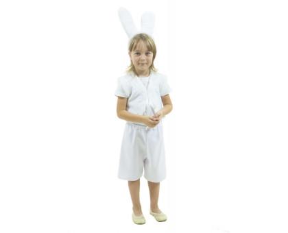 Костюм зайца: шорты, жилет с хвостиком и ободок с ушками