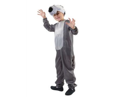 Карнавальный костюм Серый волк: комбинезон и шапочка