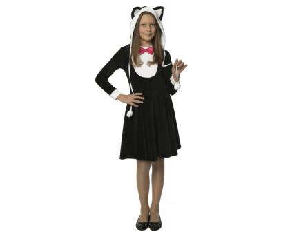 Костюм Кошечки (черный): платье с хвостиком и шапочка с ушками