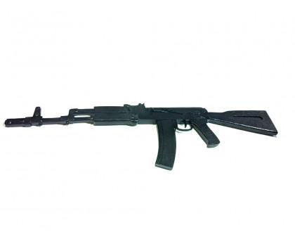 Деревянный макет АК-74 черного цвета