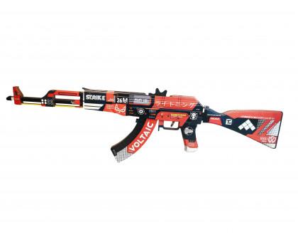 Деревянный АК 47 из игры КС ГО в окрасе Кровавый спорт