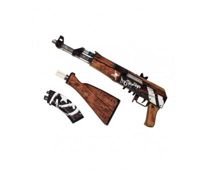 Деревянный АК 47 из игры КС ГО в окрасе Пустынный повстанец