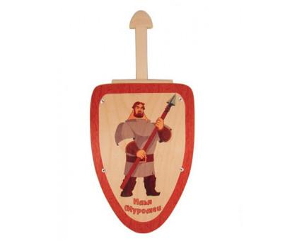 Деревянный меч и щит Илья Муромец
