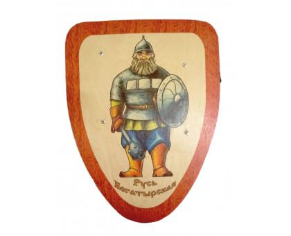 Детский деревянный щит Русь богатырская