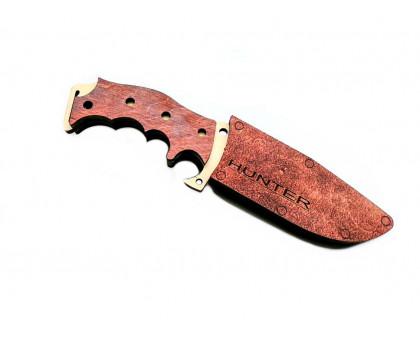 Деревянный нож Hunter с ножнами