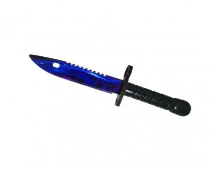 Деревянный нож M9 Bayonet Волны сапфир