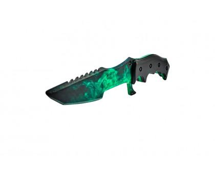 Деревянный Охотничий нож Волны изумруд из КС ГО