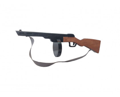 Детский пистолет-пулемет ППШ из дерева