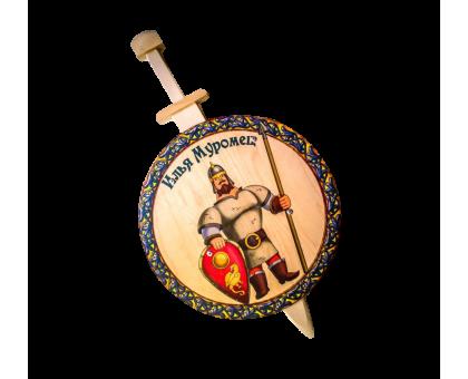 Меч с круглым щитом Илья Муромец