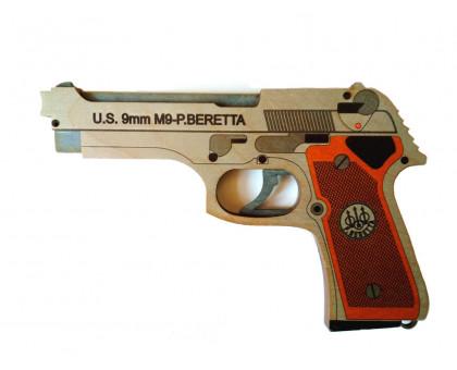 Резинкострел в виде пистолета Беретта с комплектом резинок