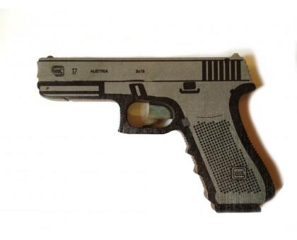 Пистолет-резинкострел Глок в комплекте с резинками (5 шт.)