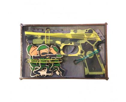 Резинкострел с фигурками мишенями в виде солдат