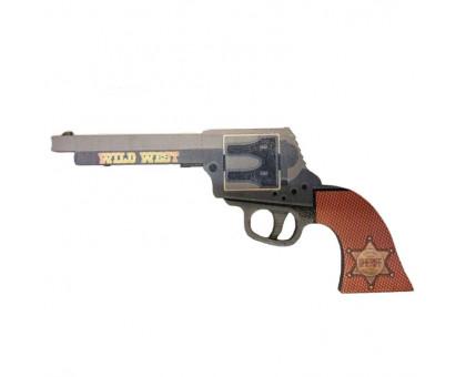 Пистолет-резинкострел кольт Peacemaker (Миротворец) в комплекте с резинками (5 шт.)