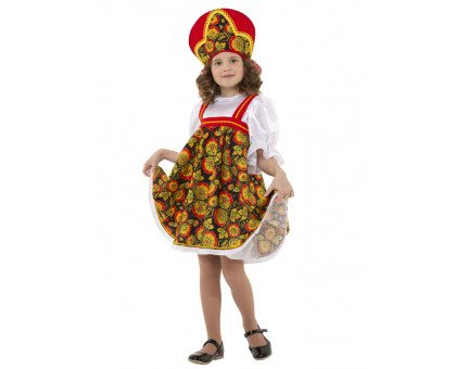 Карнавальный костюм для девочки Хохлома плясовая