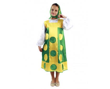 Карнавальный костюм для девочки Матрешка зеленая