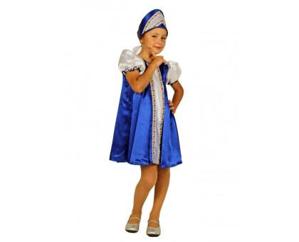 Костюм царевны для девочки синего цвета