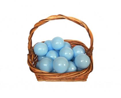 Шарики для сухого бассейна молочно-голубые