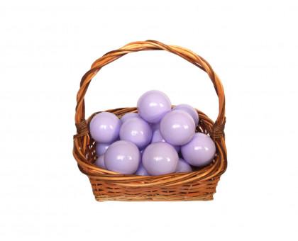 Шарики для сухого бассейна молочно-фиолетовые