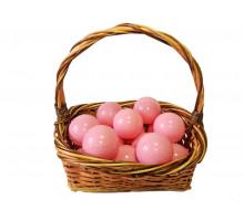 Шарики молочно-розовые